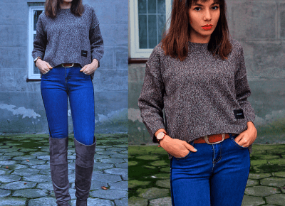 Jointy&Croissanty: brown asymmetric sweater