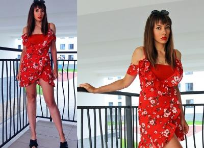 Jointy&Croissanty: ruffle wrap red dress