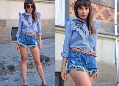 Jointy&Croissanty: embroidered ruffle shirt