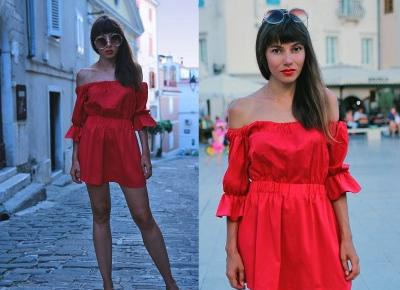 Jointy&Croissanty: red bardot dress