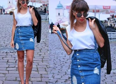 Jointy&Croissanty: denim and white