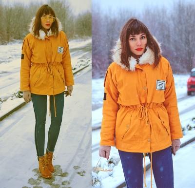 Jointy&Croissanty: mustard parka jacket