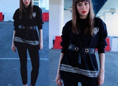 Jointy&Croissanty: waist belt and sweatshirt