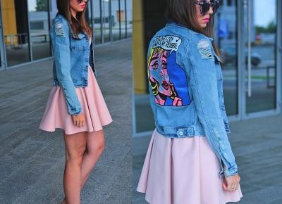 Jointy&Croissanty: pop art denim jacket