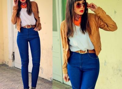 Jointy&Croissanty: blue high waisted jeans
