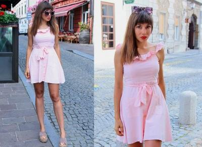 Jointy&Croissanty;: candy pink dress