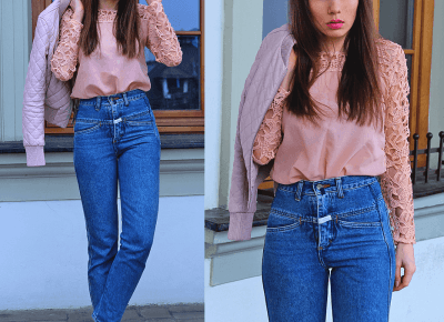 Jointy&Croissanty: pastel pink and mom jeans