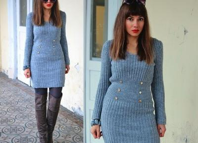 Jointy&Croissanty;: grey sweater dress