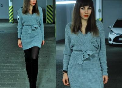 Jointy&Croissanty;: wrap sweater dress
