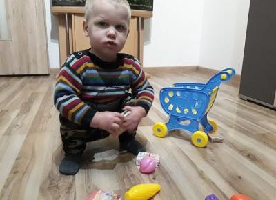Zabawkowy wózek zakupowy od Banggood