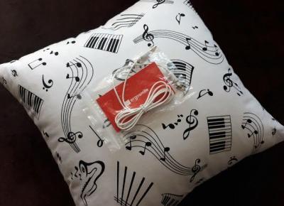 Mój pierwszy raz z... poduszką z głośnikami