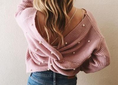 sweterek z perełkami ❤️ inspiracja ❤️