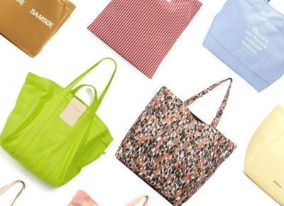 Najpiękniejsze materiałowe torby, które będziemy nosić wszędzie. I do pracy i na zakupy i na plażę!