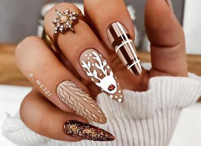 Pomysły na zimowe paznokcie.