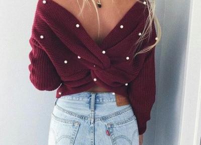 sweter z perełkami ❤️