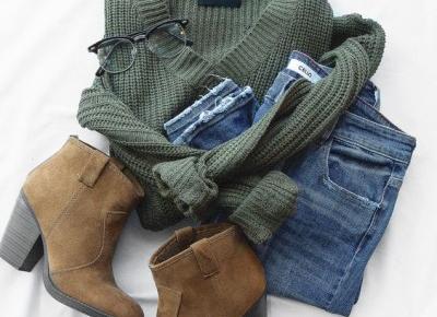 Sweterek - butelkowa zieleń 😍