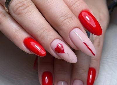 Walentynkowe paznokcie - pomysły z Instagrama ♥