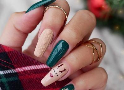 Zimowy manicure ❄️🦌