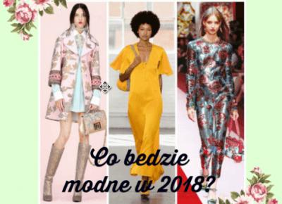 Moda 2018 - trendy na sezon wiosna/lato