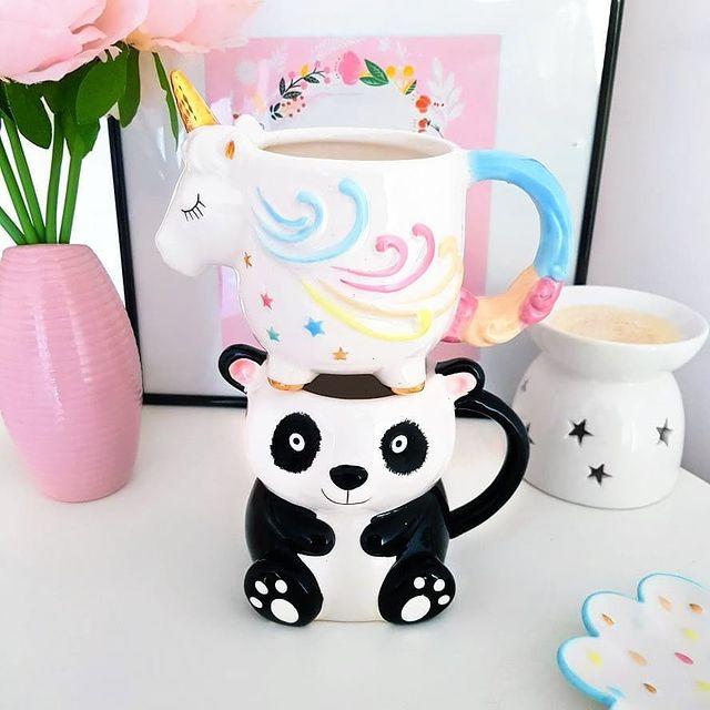 Kubek 3D - panda & jednorożec | Asda