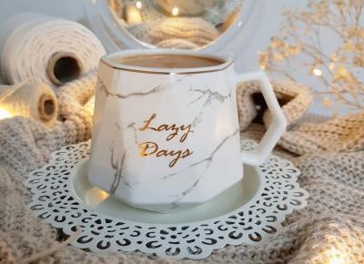 Kubek 'Lazy Days'- biały marmur - Arbre, Homla.