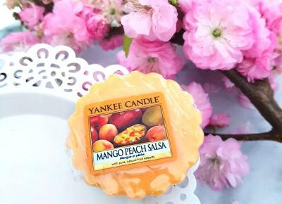 Mango Peach Salsa - wosk zapachowy od Yankee Candle.