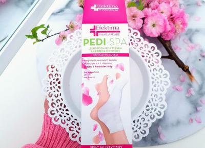 Efektima - Pedi-Spa, Złuszczająca maska skarpeta do stóp.
