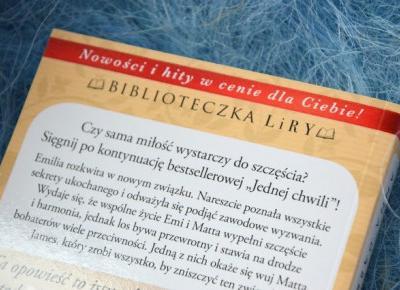 "Carrrolina Blog: ""Jedno życie"" - Anna Dąbrowska"