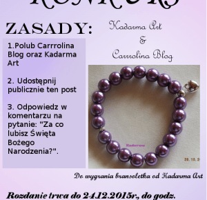Carrrolina Blog: KONKURS!
