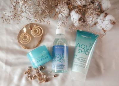 Dogłębne nawilżenie cery kosmetykami AquaShot, Soraya -