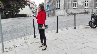 Juliett - fashion designer: Czerwona bluza od serca