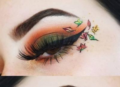 Artustyczny makijaż inspirowany jesienią.