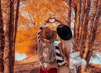 Inspiracje na jesienne zdjęcia z przyjaciółką!