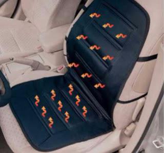 Mata grzewcza na siedzenie samochodu z Biedronki