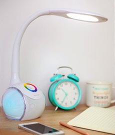 Lampa biurkowa LED z głośnikiem z Biedronki