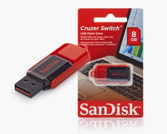 """SanDisk pamięć flash USB """"Switch"""" 8 GB z Biedronki"""
