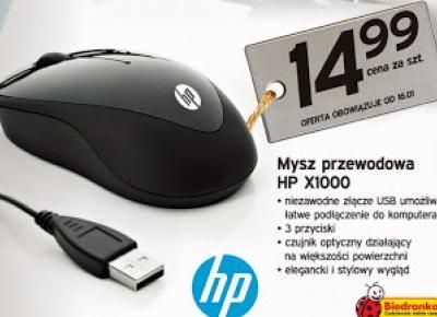 Mysz przewodowa HP X1000 z Biedronki