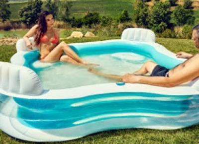 Basen z kanapami lub basen fala z Biedronki