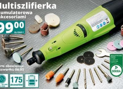 Multiszlifierka akumulatorowa z akcesoriami z Biedronki