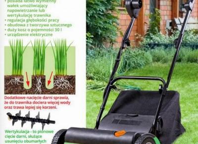 Wertykulator i aerator Gardenic 2w1 z Biedronki