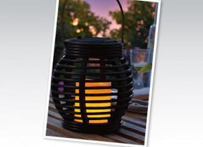 Słoik solarny lub ozdoba rattanowa z Biedronki