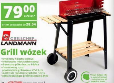 Grill wózek LANDMANN z Biedronki