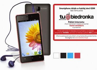 Smartphone Myphone Q-Smart z Biedronki
