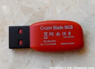 Pendrive SanDisk Cruzer Blade 16 GB z Biedronki