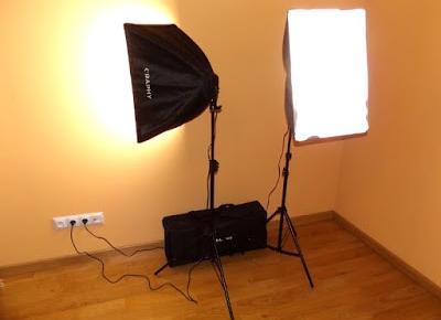 Dobre światło to podstawa czyli zestaw do ciągłego oświetlenia Softbox firmy Craphy 10 x 45W z Gearbest