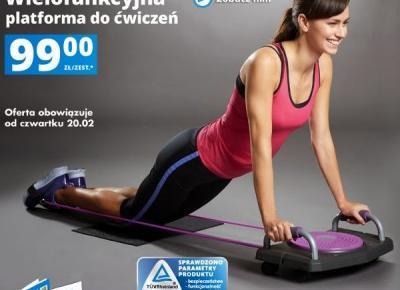 Wielofunkcyjna platforma do ćwiczeń fitness z Biedronki