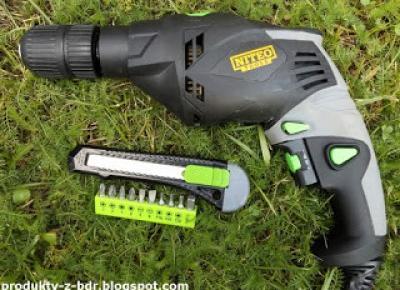 Testujemy produkty z Biedronki: Wiertarka udarowa 710 W Niteo Tools z zestawem wierteł z Biedronki