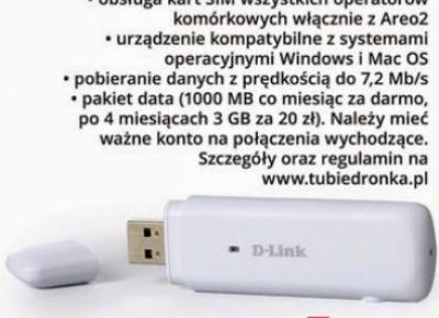 Modem do Internetu USB D-Link DWM-156 z Biedronki