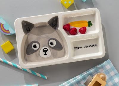 Talerz porcelanowy dla dzieci Smukee z Biedronki