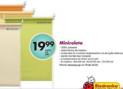 Testujemy produkty z Biedronki: Rolety z Biedronki